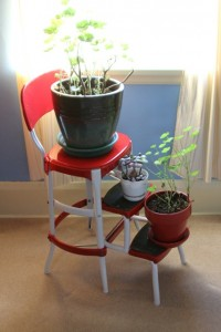 red and white metal stool 200x300 Time for a Facelift