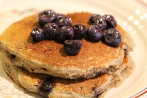 IMG 0640 300x200 Blueberry Buckwheat Pancakes