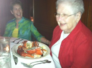 Moms lobster dinner 300x224 Kicking Things Off Moms Bucket List