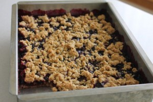 Blueberry Bars 300x200 Blueberry Crumble Bars