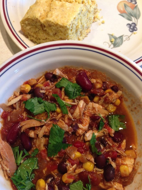 Crock Pot Chicken Taco Chili | Down the Gravel Road www.jolenephilo ...