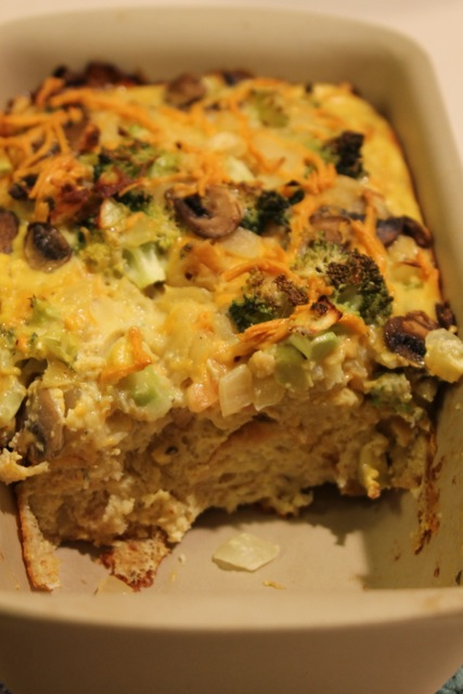 veggie egg bake Savory Vegetable Strata