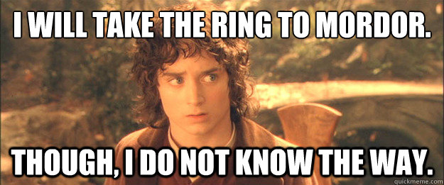 I will take the ring to Mordor