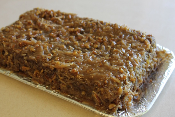 2015's non-dairy German Chocolate cake tweeks are soured Coffee Rich instead of buttermilk in cake & coconut cream instead of evaporated milk in the frosting.
