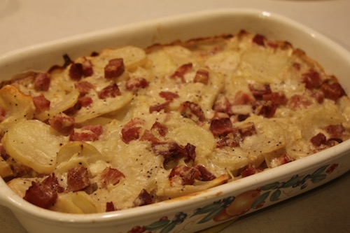 This non-dairy version of scalloped potatoes and ham is just as tasty as the dairy version. Even better with a serving of broccoli on the side.