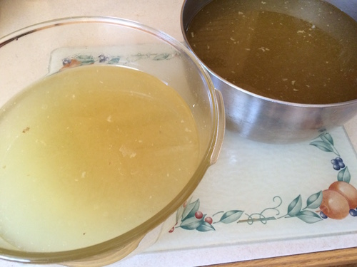 Making chicken broth in a slow cooker is simple and yields several quarts of delicious, sodium-free broth.