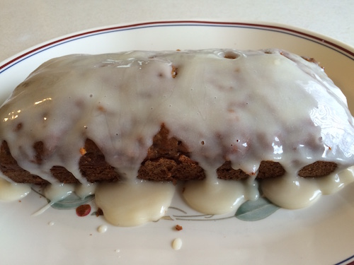 "Carrot Bread with Dairy-Free Cream ""Cheese"" Drizzle"