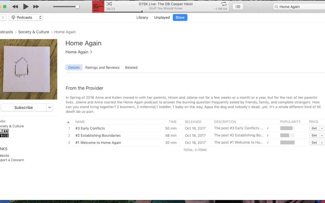 How to Rate, Review and Subscribe to Home Again from Your Computer