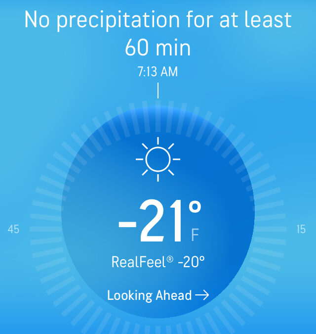 It Could Be Worse. It Could Be -45°.