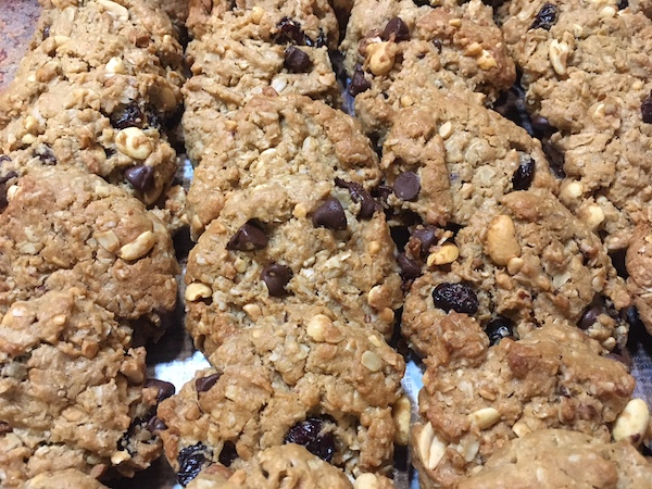 This monster cookie recipe make yummy treats that are gluten, soy, and dairy-free. They are also low in sugar and high fiber. What more could you want?