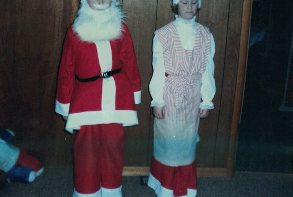Country School Christmas Programs and Santa Suits